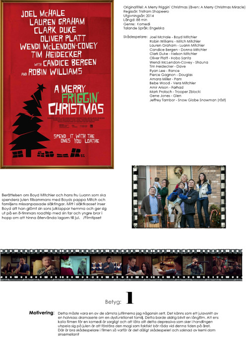Filmrecension: A Merry Friggin' Christmas / A Merry Christmas Miracle