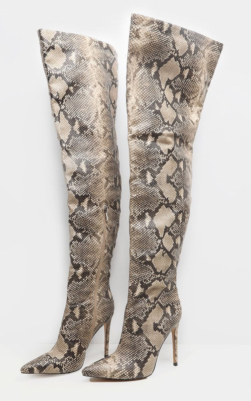 SNAKE THIGH HIGH BOOT